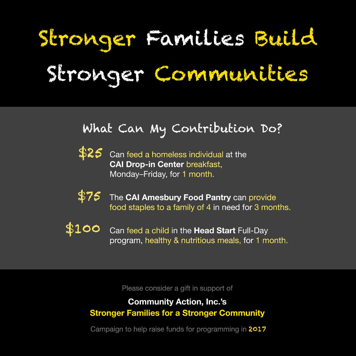 2016 Stronger Families for a Stronger Community Campaign